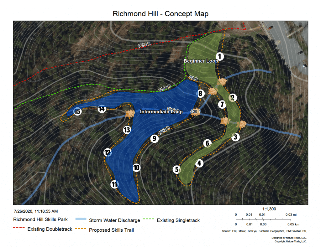 richmond hill bike trail map