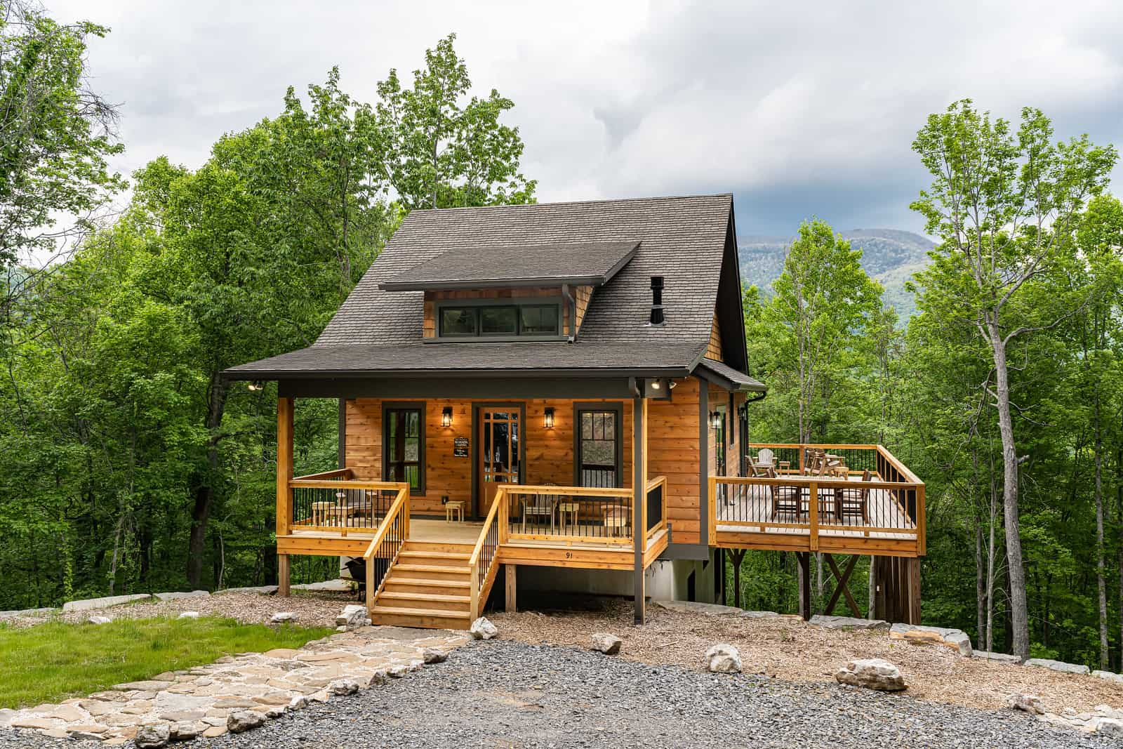A custom home in Asheville